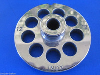 """#12 x 1/2"""" w/ HUB STAINLESS Meat Grinder Mincer plate disc screen"""