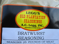 Bratwurst Sausage Seasoning Recipe for 100 LBS of Venison Pork Beef Deer links