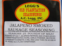 CASE PRICE Leggs JALAPENO SMOKED LINKS Sausage Seasoning for Venison Pork Elk Beef