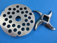 "#42 plate x 1/2"" holes.  Plus sharp stainless steel blade"