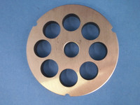 "Size #42 x 1 "" AND KNIFE Meat Grinder Disc Plate for Cabelas, Hobart, Weston etc"