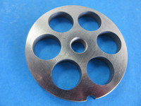 #8 x 5/8   LARGE hole size meat grinder chopper plate disc die