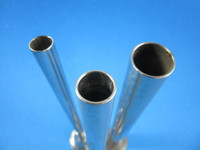 VARIETY SET of THREE Stainless Steel sausage stuffer tube funnel for Enterprise press