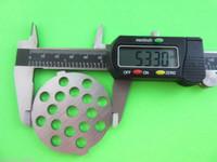 "3/16"" Meat Grinder plate disc & knife for Waring Pro Oster & Back to Basics"