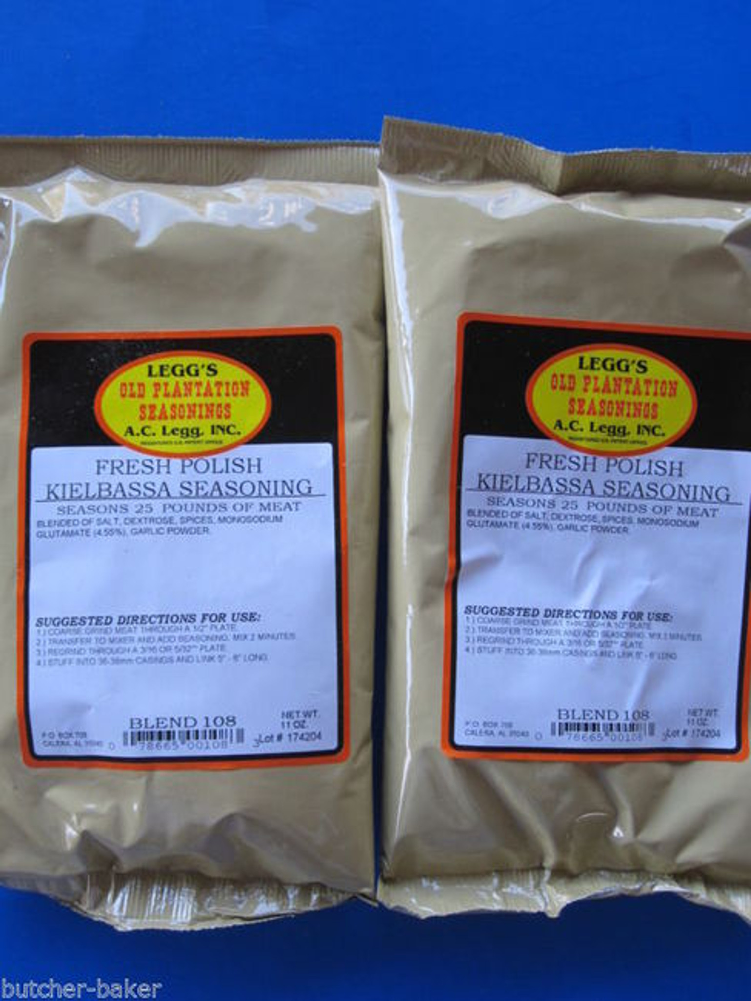 ORIGINAL Breakfast SausageSeasoning Spices for 50 lbs Beef Venison Pork NO MSG