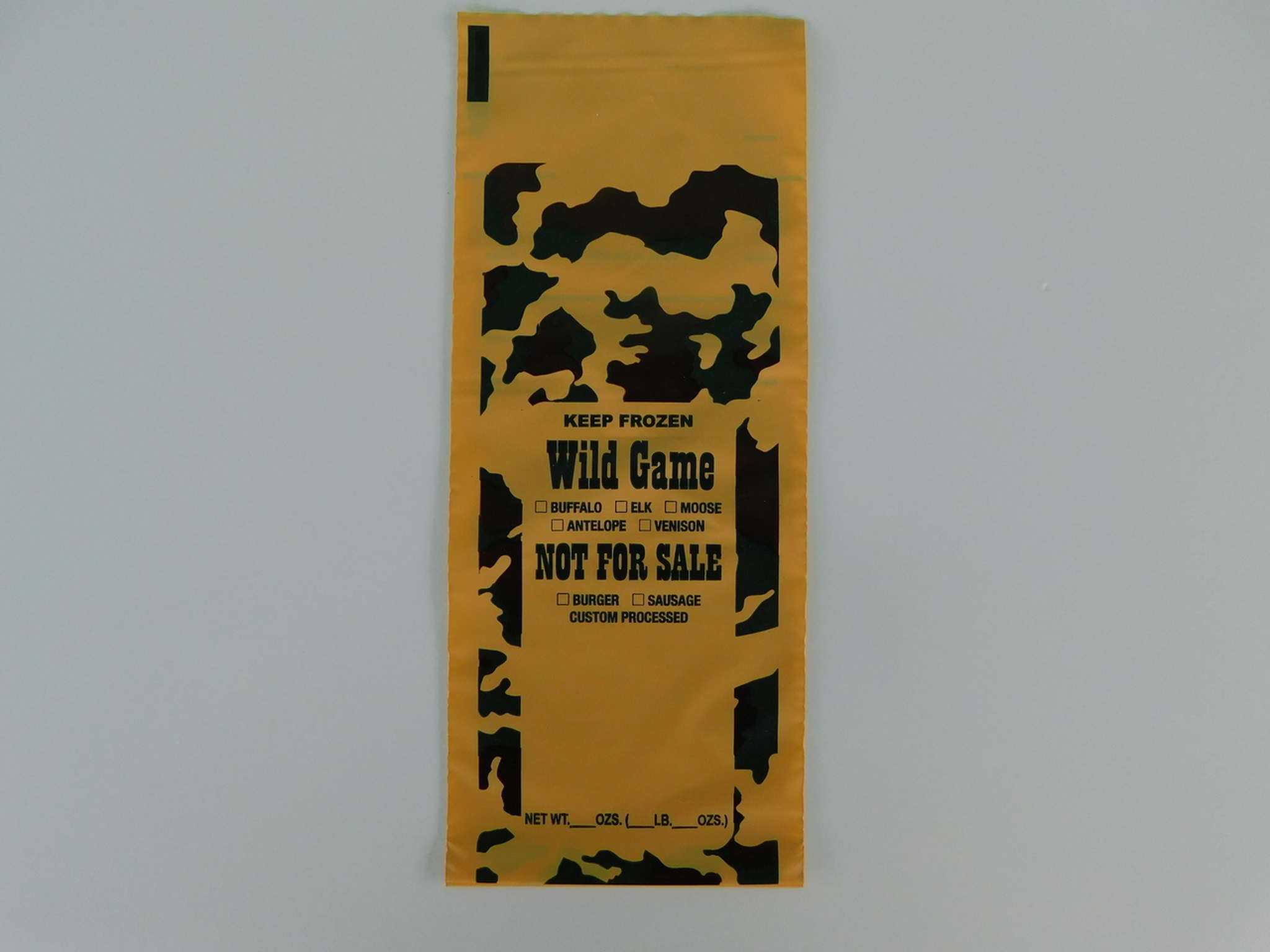 Burger Sausage Freezer Bags 200 ct 1-Lb capacity for all wild game meat