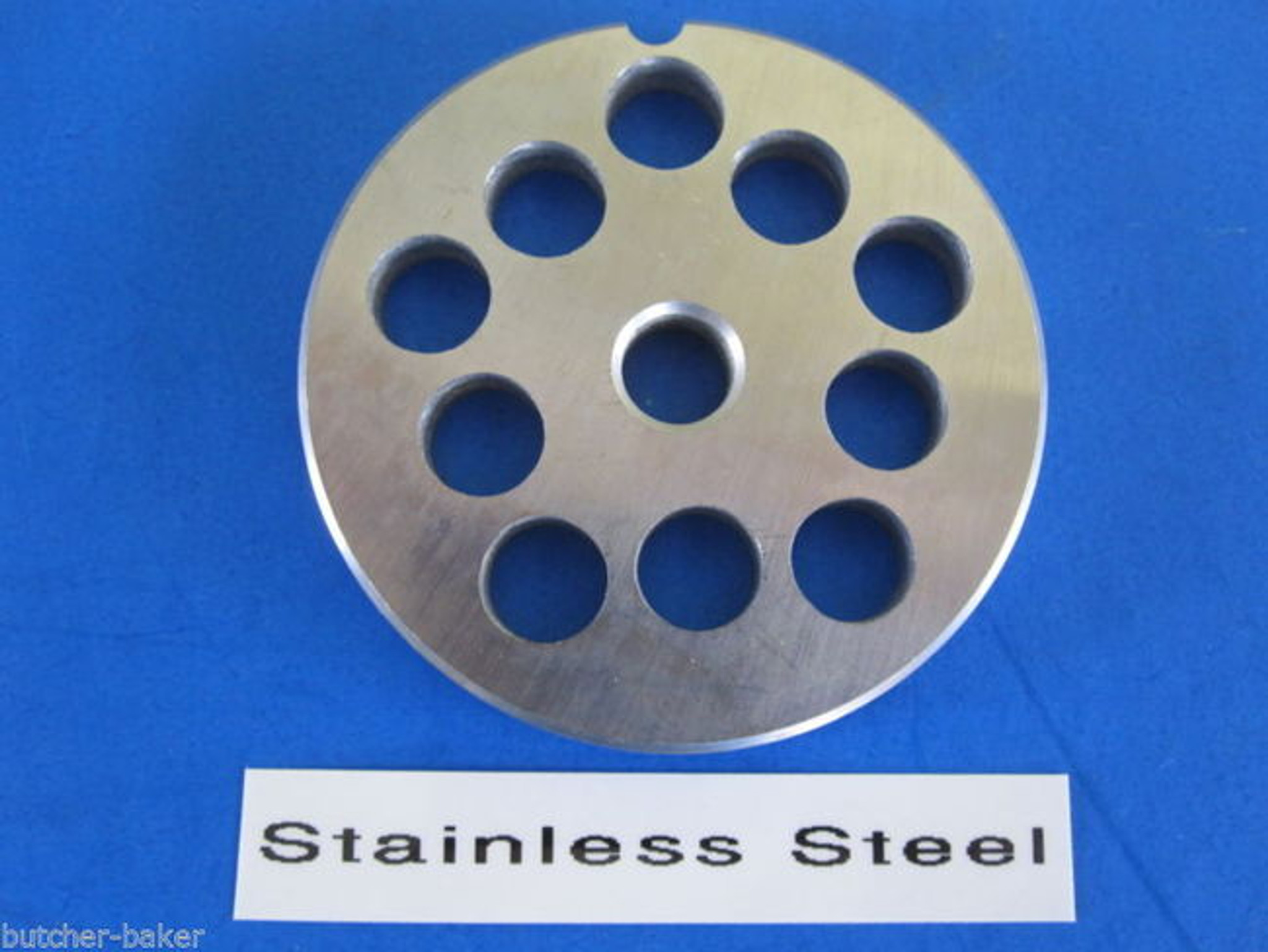 """#12 x 3//8/"""" Premium Stainless Steel meat grinder plate disc Electric or Manual"""