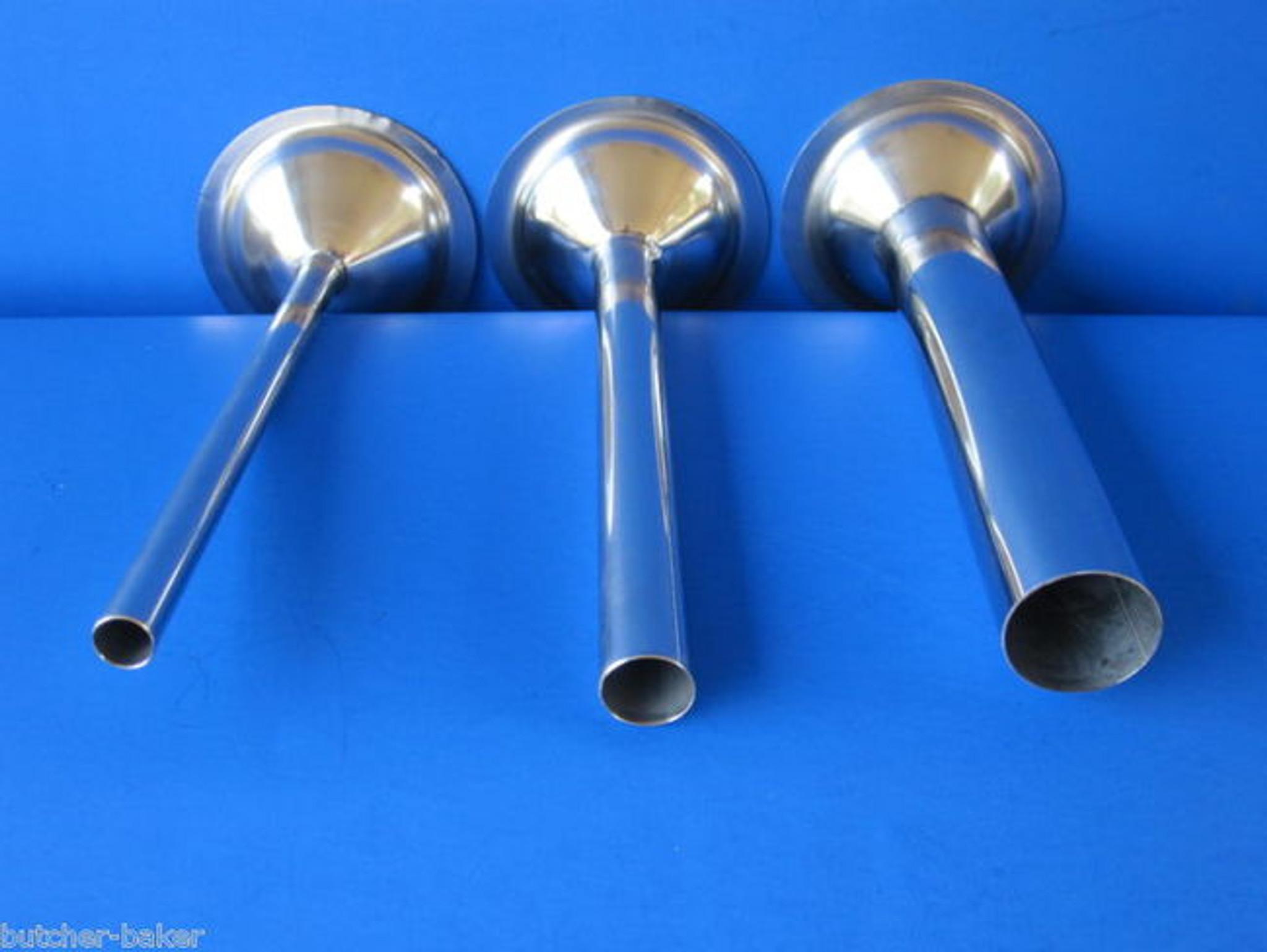 "#32 Wide Stainless Steel meat grinder 2/"" bag filling tube cone LEM Cabelas Biro"