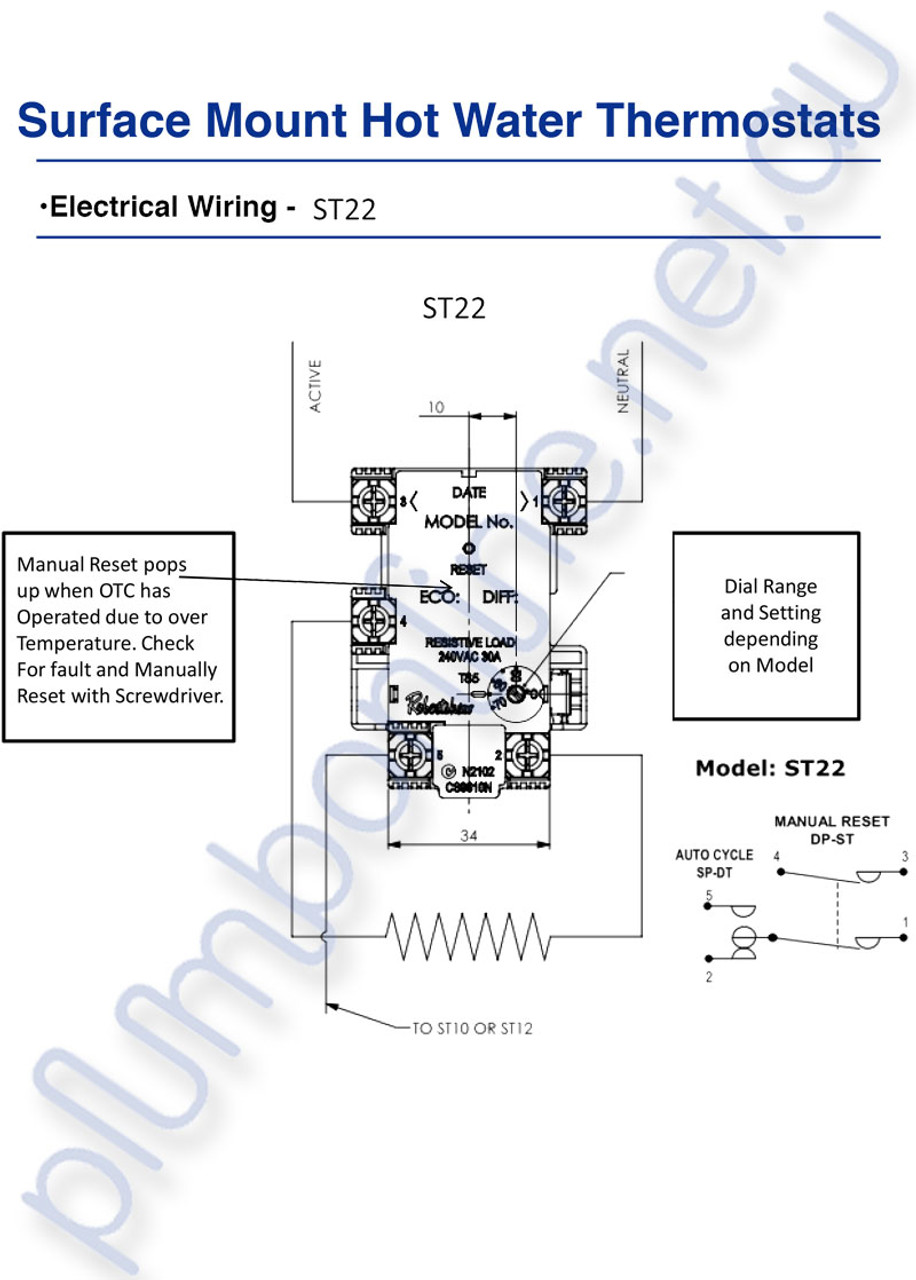 robertshaw st 22-60k | st2207233 surface mount hot water thermostat -  wiring