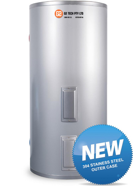 Apricus Aftermarket 400 litre Electric Stainless Steel Tank Solar Ready - 304 Stainless Steel Outer Casing