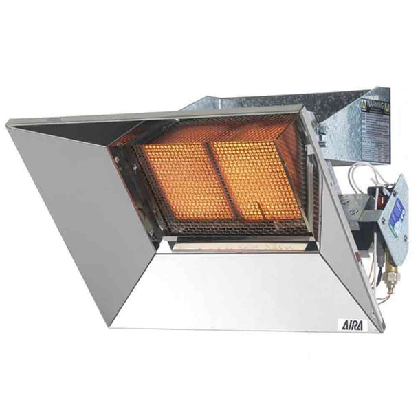 Gas Heater Wall Mount Manual Ignition AIRA Super Ray Infra Red 4.44 kW | 2 Tile | NG