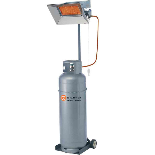 Portable Gas Heater Manual Ignition AIRA Super Ray Infra Red 2 Tile | 4.44 kW | LP
