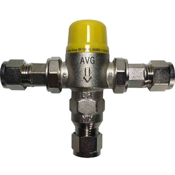 AVG TEMPERING VALVE 20mm with insulation (for storage HWS)