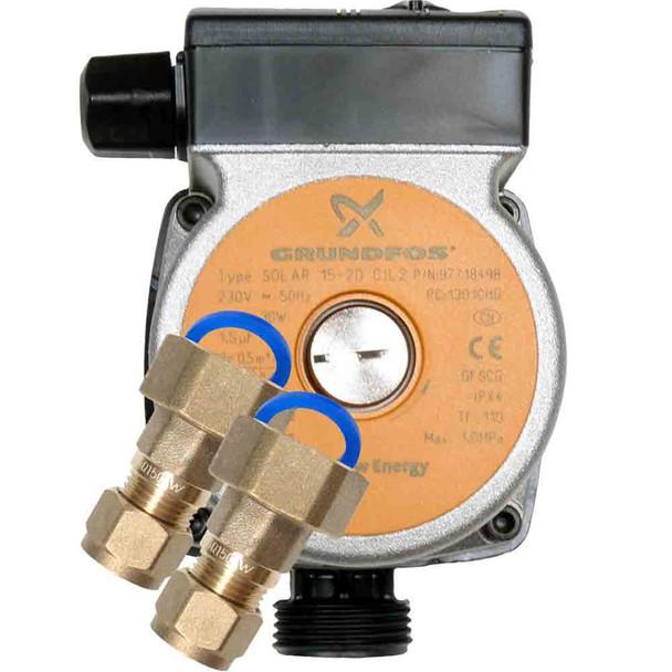 Grundfos SOLAR 15-20 CIL2 Open Loop Solar Pump 240V with pump unions