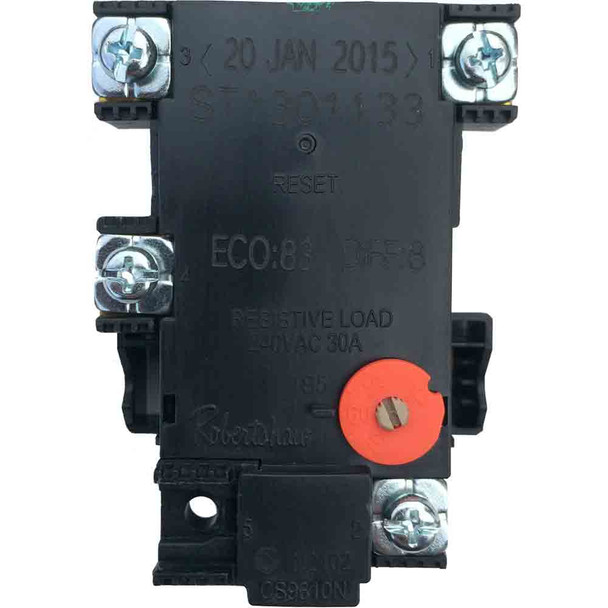 Electric Hot Water Heater Thermostat Robertshaw - Single Solar Rated with Auto Reset