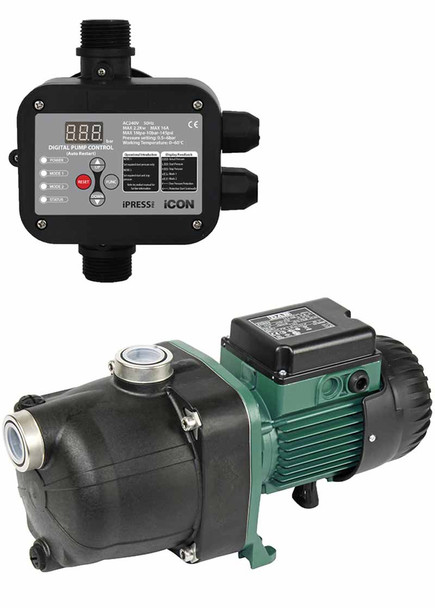 DAB Pumps 132M JETCOM ACTIVE Pressure Water Pump with iPress Pump Controller