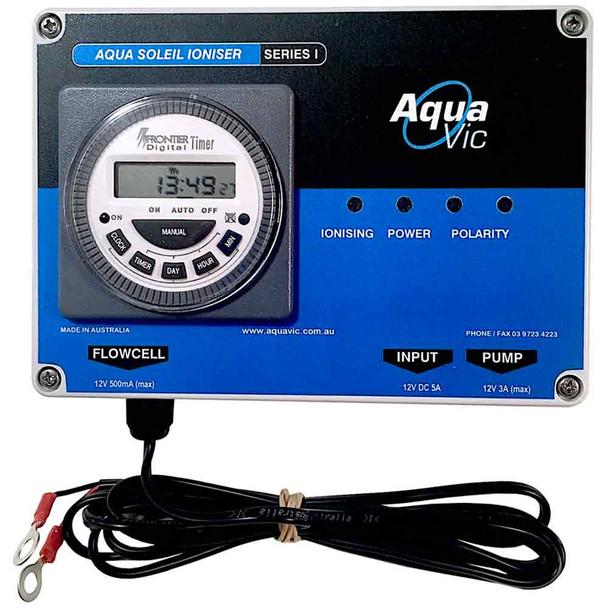 Aquavic Fresh Water Pool Ioniser Aqua Soleil 12Volt DC Electronic Controller