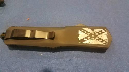 Texas Battle Worn Flag OTF Knife - Big Boy Fireworks