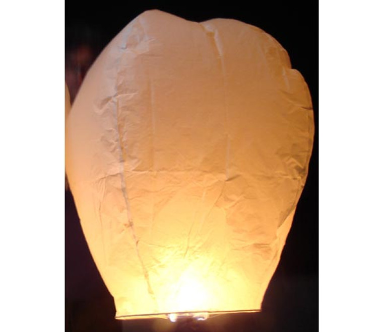 10 Pack  White Wedding Sky Lanterns
