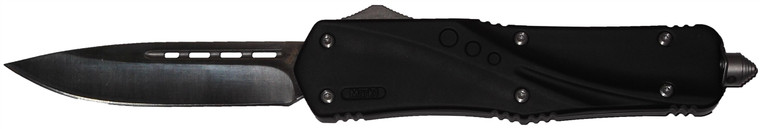 Cutting Edge Mark 1 Black D/A OTF Automatic Knife - Satin Plain