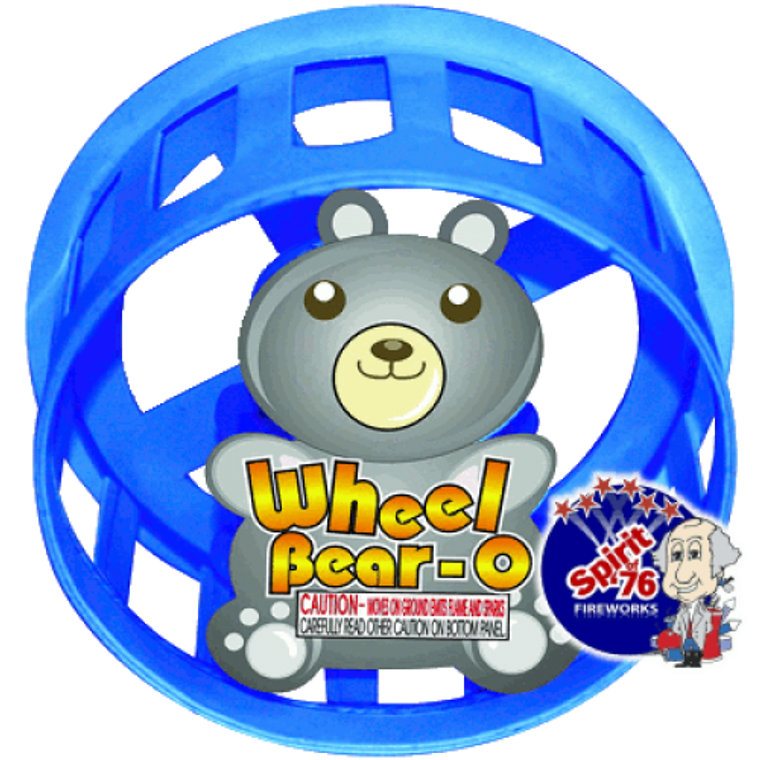 Wheel Bear-O puts on a circus display of sparks and colors, traveling in a circle pattern. A kids favorite item.