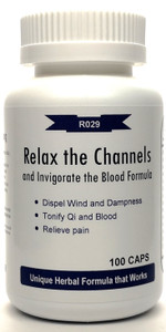 Relax the Channels and Invigorate the Blood Formula 500mg 100 capsules (Shu Jing Huo Xue Tang)
