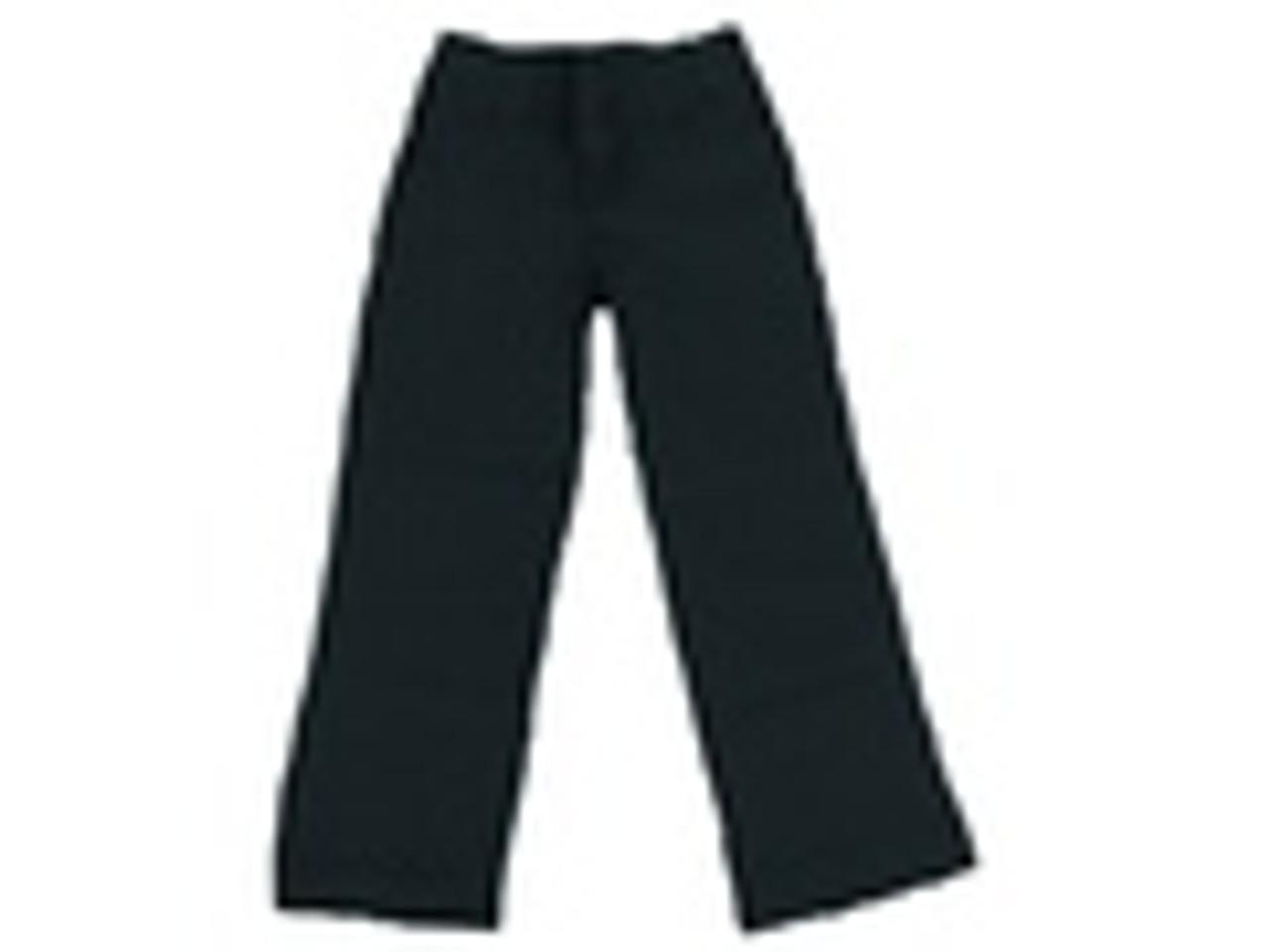 Girls Black Pull Up Pants