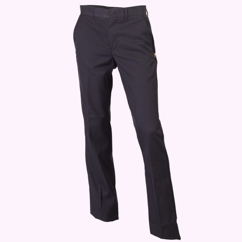 Black Flat Front Pants - Adult