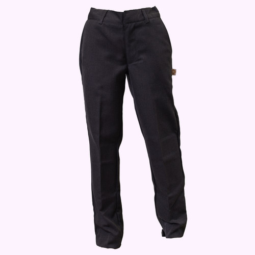 Grey Flat Front Pants  - Youth