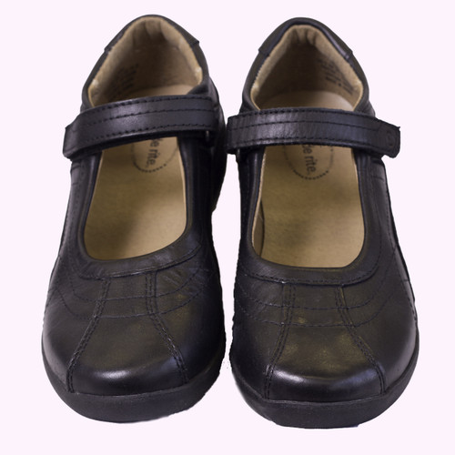StrideRite Claire Black Shoes Girls