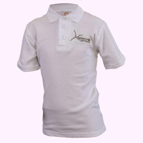 Aspen Hill White Short Sleeve Polo