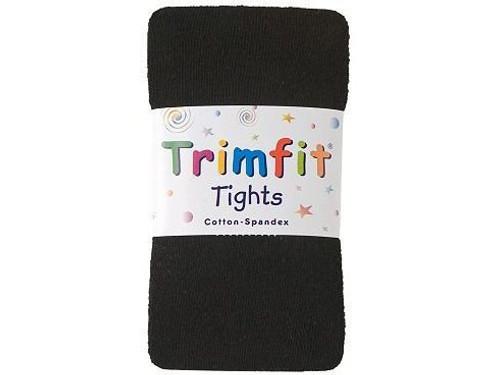 Black Cotton-Flat Knit Tights - Adult