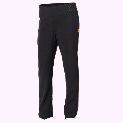 Girls Black Pull Up Pant