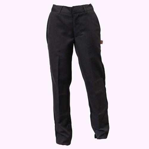 Husky Grey Flat Front Pants