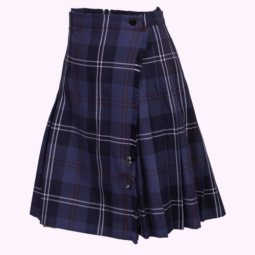 Alice Jamieson tartan kilt.  Polyester and viscose, machine washable and hang to dry.