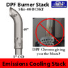 """6"""" x 48"""" Emissions Curved Stack with 5"""" OD CHROME AE605048PL"""