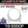 "3.5"" Double Saddle Flat U-Bolt Chrome Plated Clamp UAF350PL"