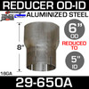 """6"""" to 5"""" Exhaust Reducer OD to ID Aluminized"""