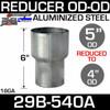 "5"" to 4"" Exhaust Reducer OD to OD Aluminized"