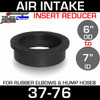 """7"""" ID to 6"""" Air Intake Rubber Reducer Insert Sleeve OD 