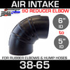 "6"" to 5"" Rubber Reducing 90 Degree Air Intake ElbowRE650"