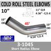 """10"""" 45 Degree Exhaust Elbow 11"""" CLR, 4.56"""" Leg 3-1045"""