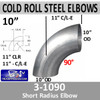 """3-1090-10 10"""" Exhaust Elbow 90 Degree Cold Roll Steel 10"""" CLR"""