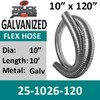 "10"" Galvanized Steel Flex Tubing 25-1026-120 Generator Exhaust"