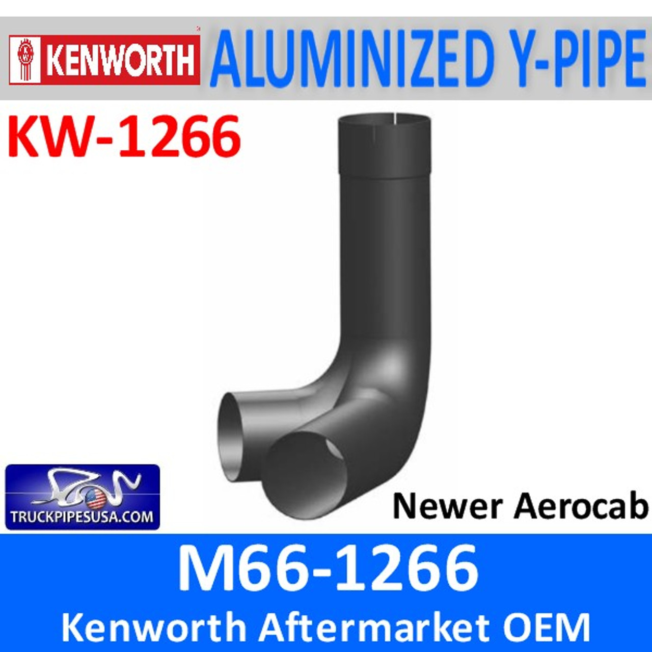 M66-1266 Kenworth Y-Pipe Exhaust for Newer Aerocab KW-1266
