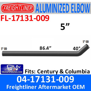 04-17131-009 Freightliner Century Long Connection Pipe 86.44""