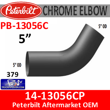 14-13056C Peterbilt 379 CHROME Exhaust Elbow PB-13056C