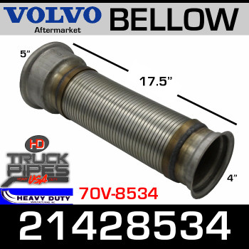 "21428534 Volvo & Mack EGR Bellows Flex 17.5"" Long VG-8534"