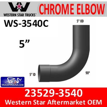23529-3540 Western Star 90 Degree Elbow CHROME WS-3540C