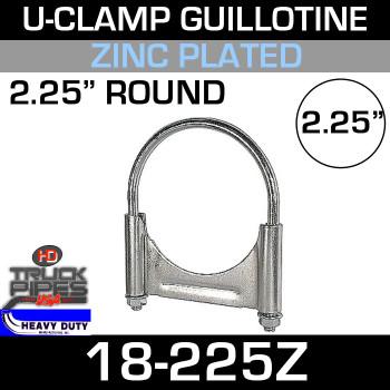 "2.25"" U-Clamp Guillotine Style Zinc 18-225Z"